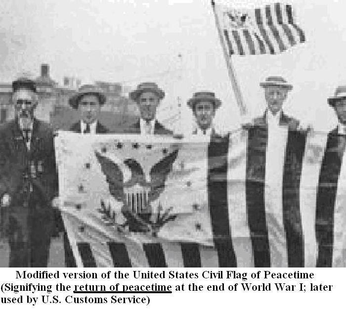 us_civil_flag_of_peacetime_Displayed_AFTER_END_of_world_war_1_cap_1