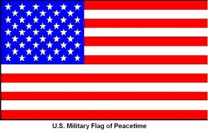 FLAG__US_MILITARY_FLAG_of_PEACETIME__with_CAPTION