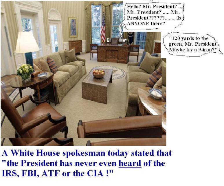 A typical day in the Oval Office . . .