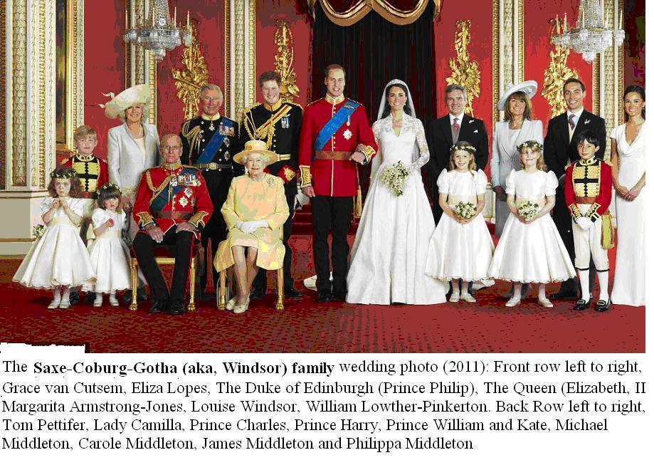 why is the british royal family d windsor so damn important windsor saxe coburg gotha royal family wedding 2011 photo 1 first because the british royal