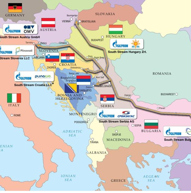 RUSSIAs__SOUTH_STREAM__Gas_Pipeline__EUROPE_Section_Only____MAP