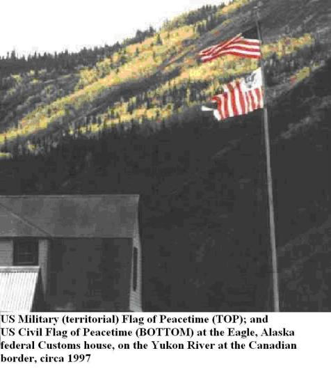 US_Military-Territorial__and__Civil_FLAGS_of_Peacetime.__BOTH_FLOWN_TOGETHER