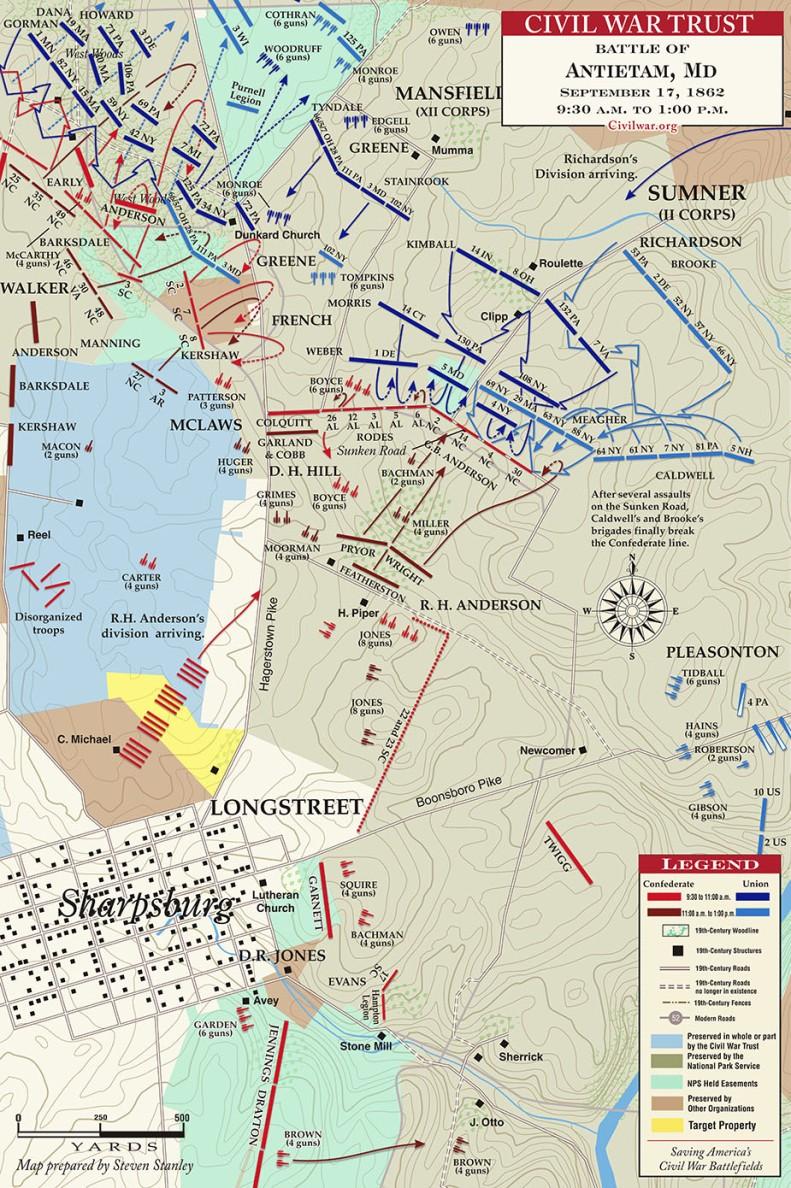 Antietam__Sunken_Road__9-30AM_to_1PM___MAP_1