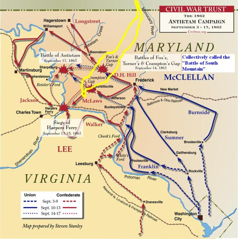 account of the maryland campaign The maryland campaign of september 1862: ezra a carman's definitive account of the union and confederate armies at antietam edited by joseph pierro.